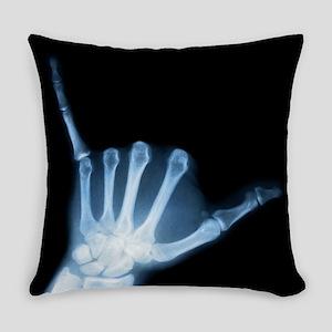 Shaka Hand Sign X-ray ALOHA Everyday Pillow