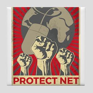 Protect Net Neutrality Tile Coaster