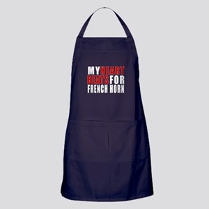 My Heart Beats For french horn Apron (dark)