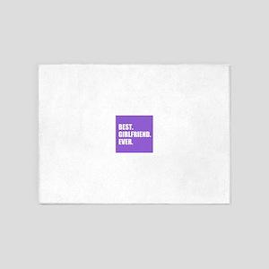 Best Girlfriend Ever purple 5'x7'Area Rug