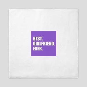 Best Girlfriend Ever purple Queen Duvet