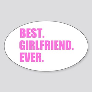 Pink Best Girlfriend Ever Sticker