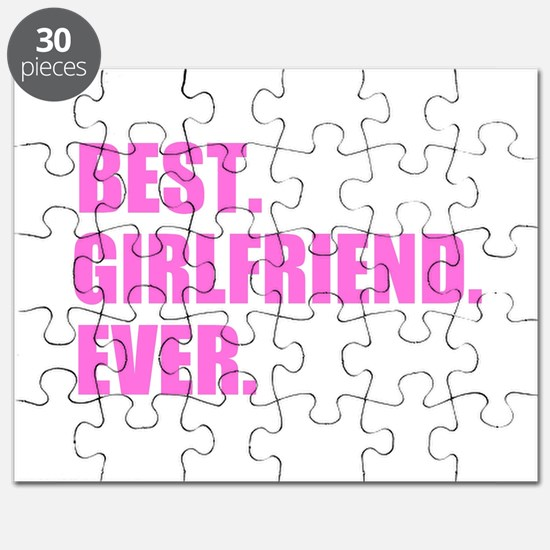 Pink Best Girlfriend Ever Puzzle