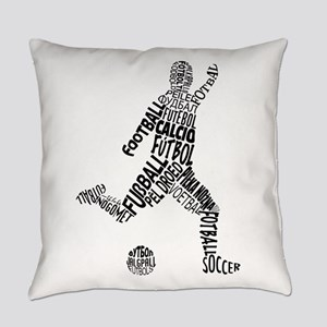 Soccer Football Languages Everyday Pillow