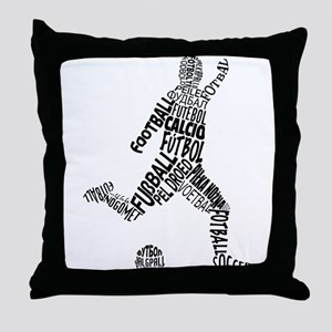 Soccer Football Languages Throw Pillow
