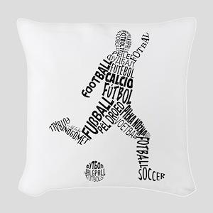Soccer Football Languages Woven Throw Pillow