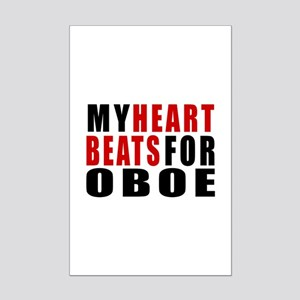 My Heart Beats For oboe Mini Poster Print