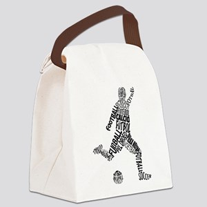 Soccer Football Languages Canvas Lunch Bag