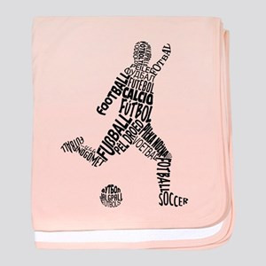 Soccer Football Languages baby blanket