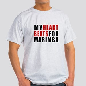 My Heart Beats For Marimba Light T-Shirt