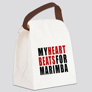 My Heart Beats For Marimba Canvas Lunch Bag