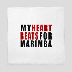 My Heart Beats For Marimba Queen Duvet