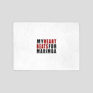 My Heart Beats For Marimba 5'x7'Area Rug