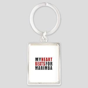 My Heart Beats For Marimba Portrait Keychain
