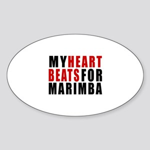 My Heart Beats For Marimba Sticker (Oval)