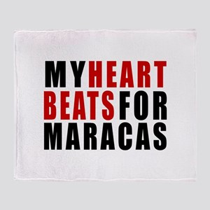 My Heart Beats For Maracas Throw Blanket