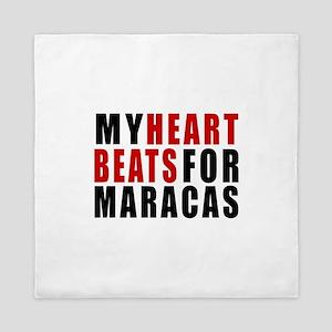My Heart Beats For Maracas Queen Duvet