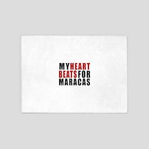 My Heart Beats For Maracas 5'x7'Area Rug