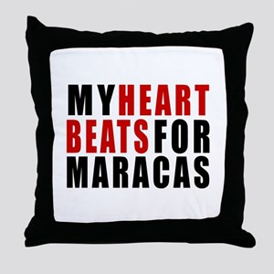 My Heart Beats For Maracas Throw Pillow