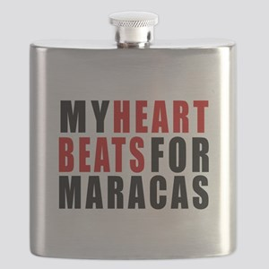 My Heart Beats For Maracas Flask