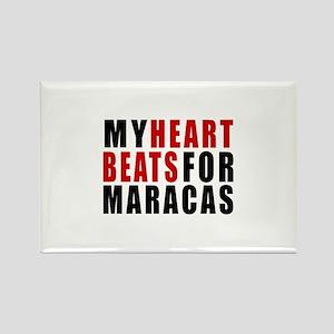 My Heart Beats For Maracas Rectangle Magnet