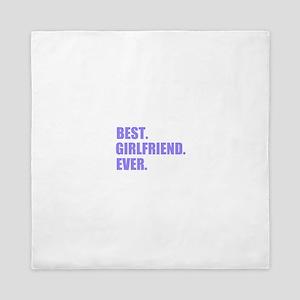 Purple Best Girlfriend Ever Queen Duvet