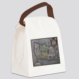Vintage Map of Ireland (1592) Canvas Lunch Bag