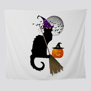 Le Chat Noir - Halloween Witch Wall Tapestry