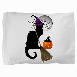 Le Chat Noir - Halloween Witch Pillow Sham
