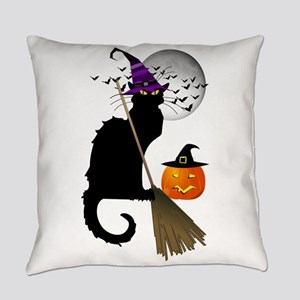 Le Chat Noir - Halloween Witch Everyday Pillow
