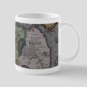 Vintage Map of Ireland (1592) Mugs