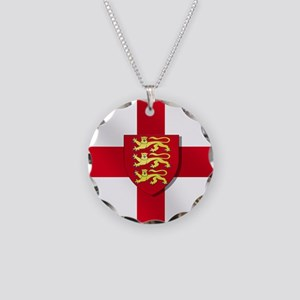 England Three Lions Flag Necklace
