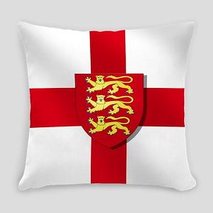 England Three Lions Flag Everyday Pillow