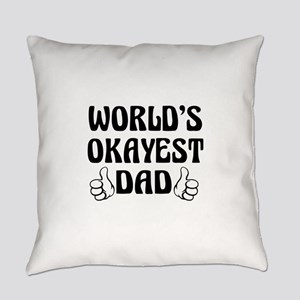 World's Okayest Dad Everyday Pillow