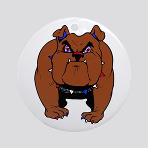British Bulldog Round Ornament
