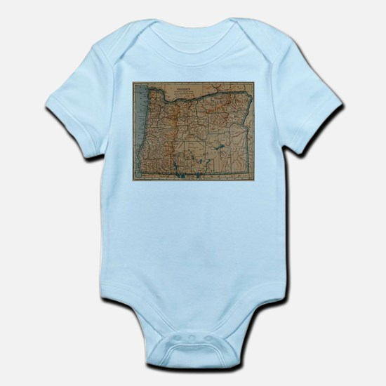 Vintage Map of Oregon (1921) Body Suit