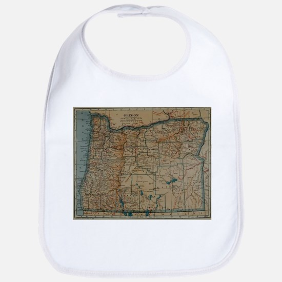 Vintage Map of Oregon (1921) Bib