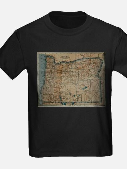Vintage Map of Oregon (1921) T-Shirt