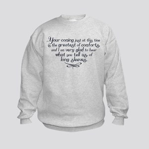 Long Sleeves Mrs Bennet Quote Sweatshirt