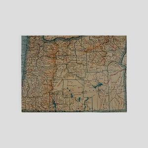 Vintage Map of Oregon (1921) 5'x7'Area Rug
