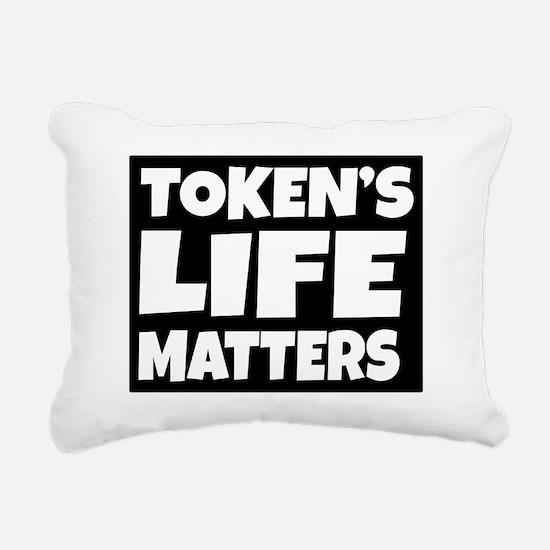 Token's life matters Rectangular Canvas Pillow