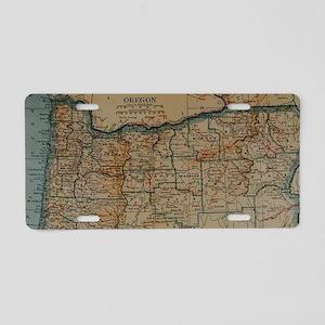 Vintage Map of Oregon (1921 Aluminum License Plate