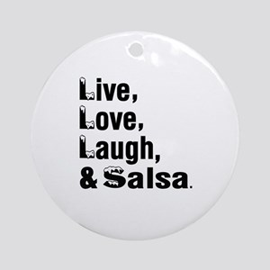 Live Love Salsa Dance Designs Round Ornament