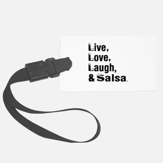 Live Love Salsa Dance Designs Luggage Tag