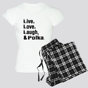 Live Love Polka Dance Desig Women's Light Pajamas
