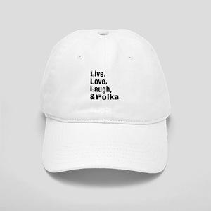 Live Love Polka Dance Designs Cap
