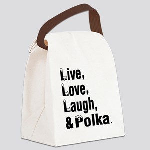 Live Love Polka Dance Designs Canvas Lunch Bag