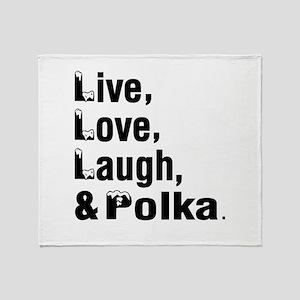 Live Love Polka Dance Designs Throw Blanket