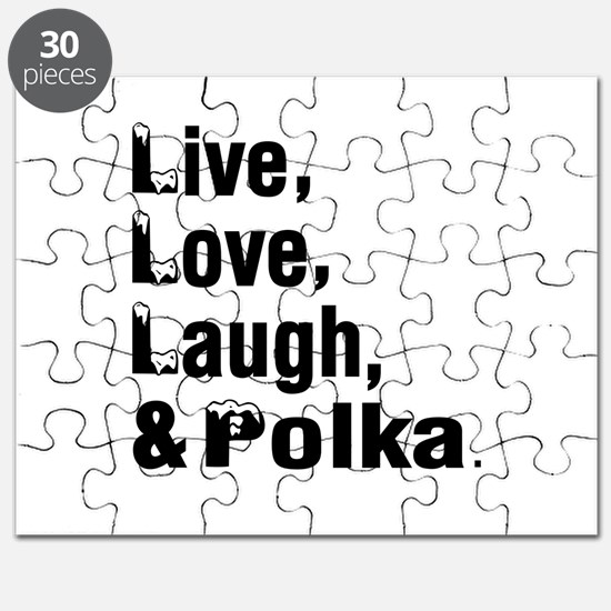 Live Love Polka Dance Designs Puzzle