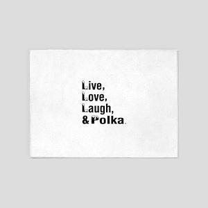 Live Love Polka Dance Designs 5'x7'Area Rug
